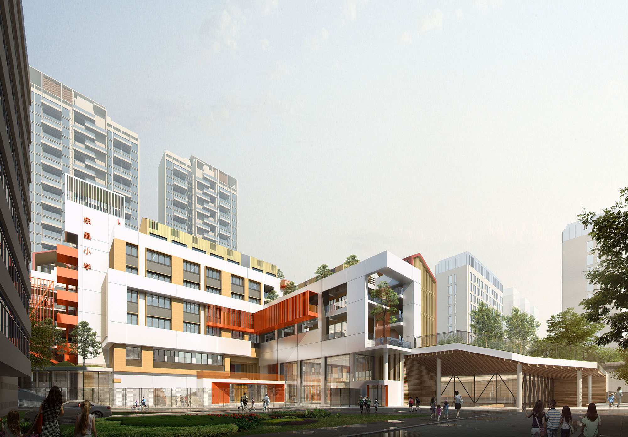 """多维度环境:""""为明天设计—深圳东昌小学改造与建筑设计竞赛"""""""