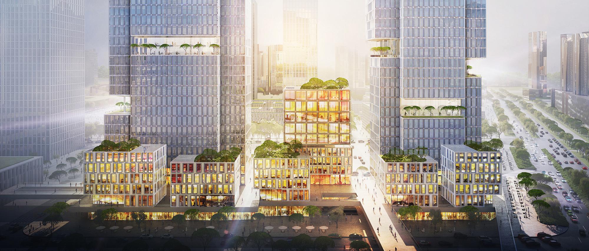 竖向构成:中国天音大厦竞赛
