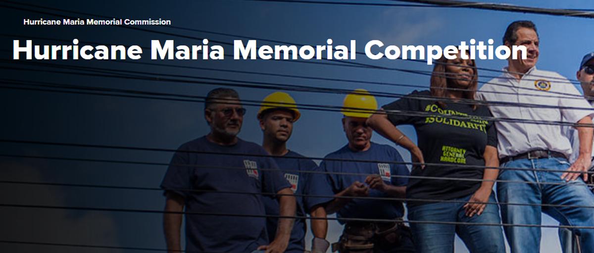 """""""飓风玛利亚""""纪念碑设计竞赛"""