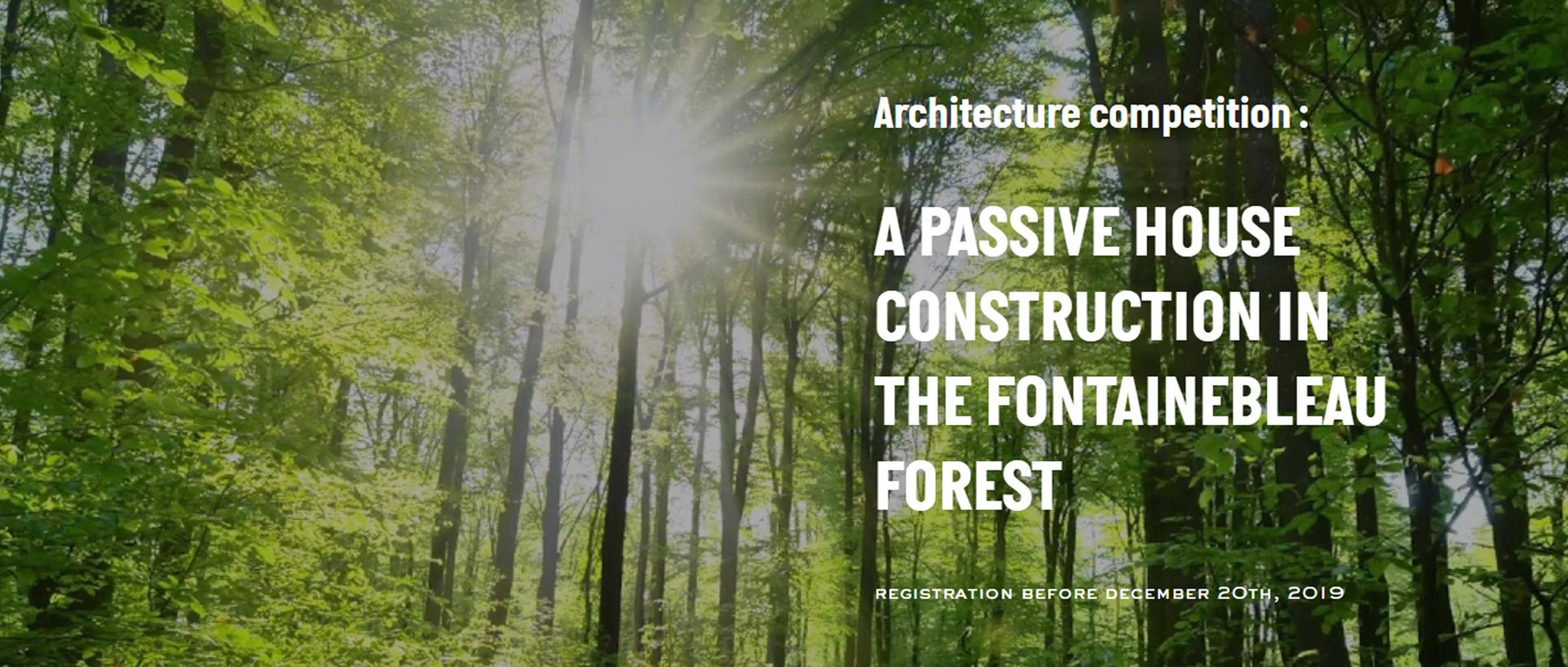 枫丹白露森林被动住宅设计竞赛