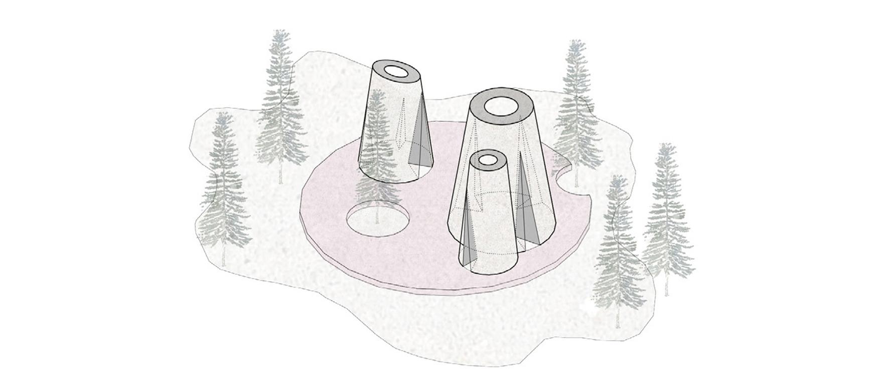 消隐之树:拉脱维亚森林冥想屋