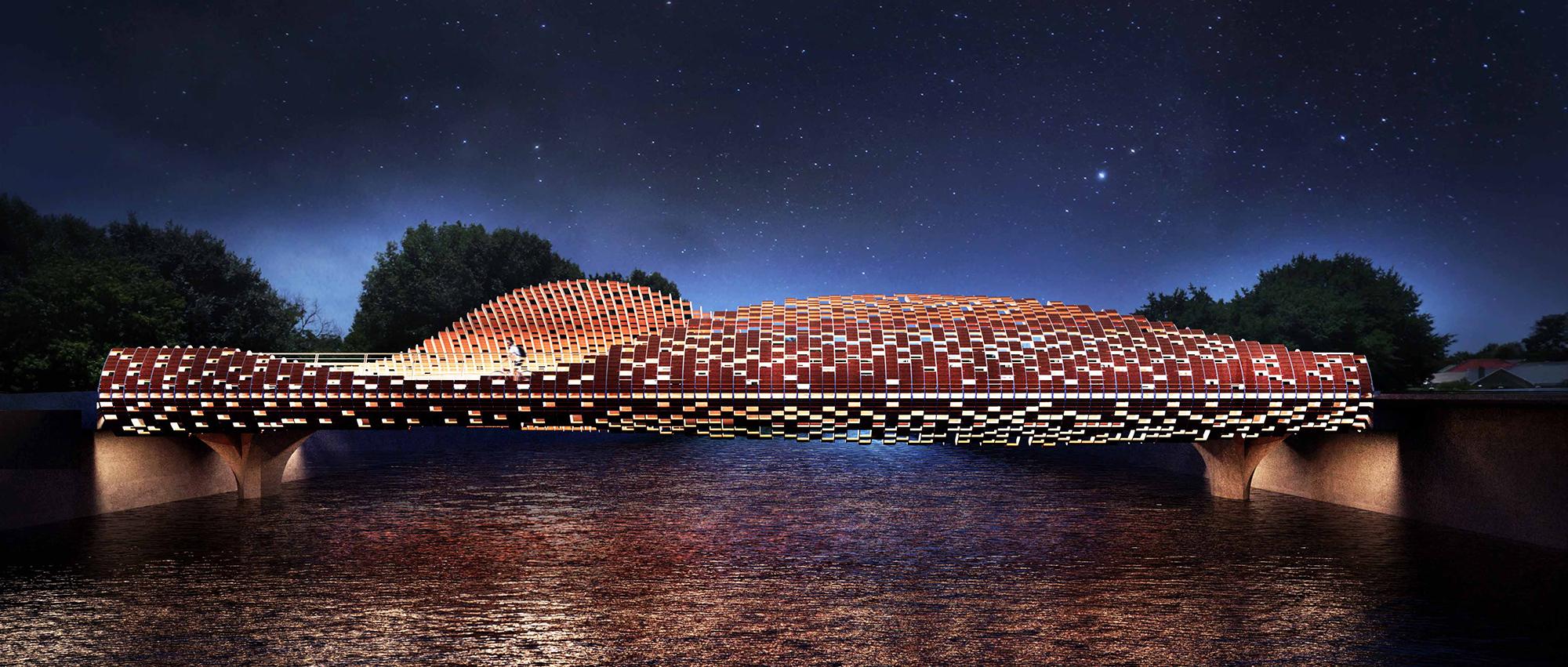 鹏之翼:深圳大鹏所城南门中轴景观桥设计竞赛入围提案