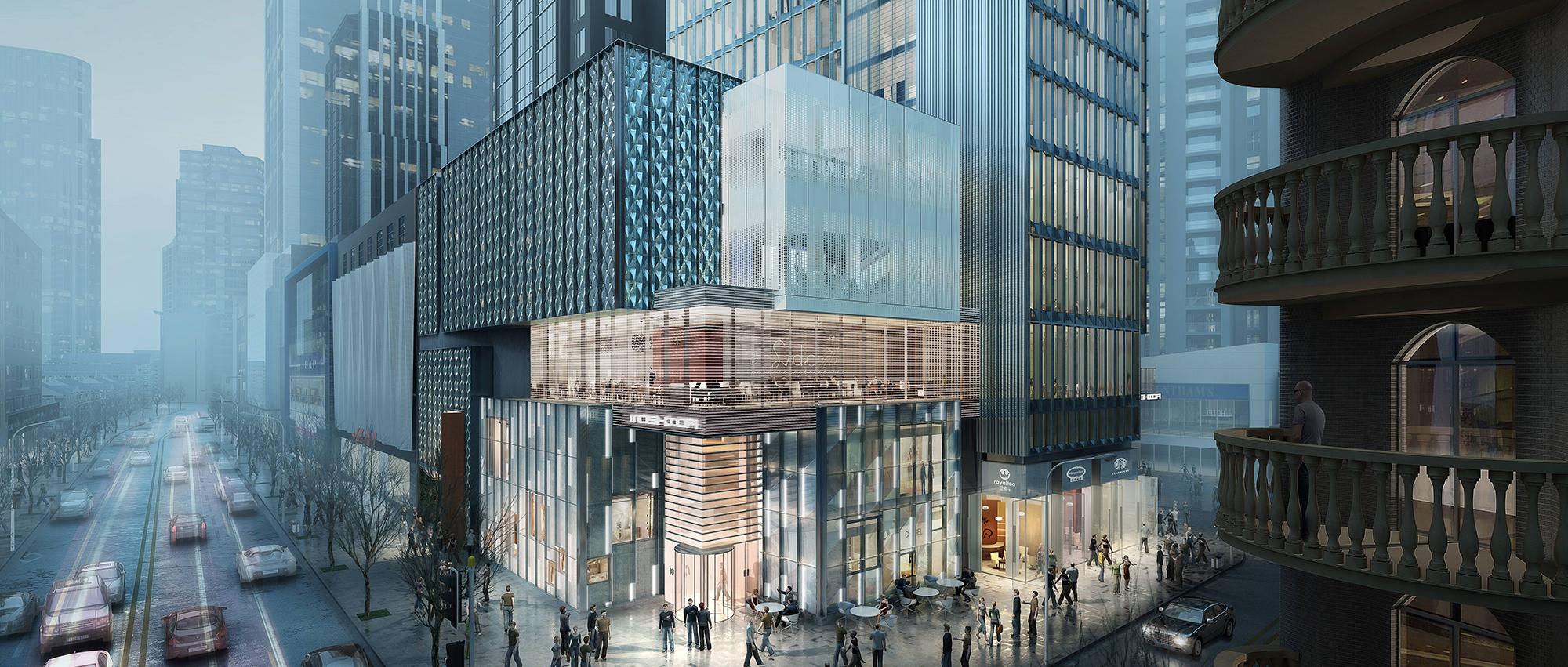 城市核心商业区改造更新中的微型城市综合体:摩士达商厦