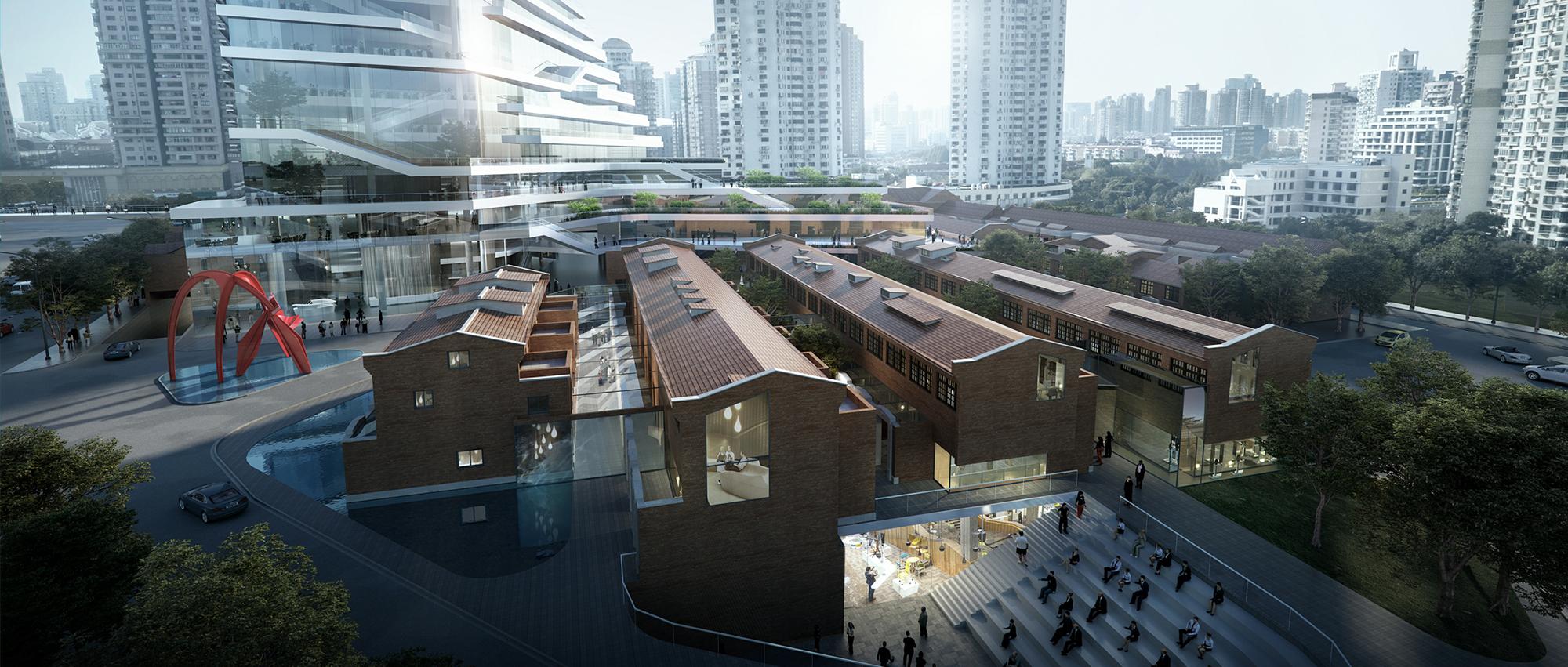 垂直公园:华建集团053-b-1街坊方案设计竞赛优胜方案