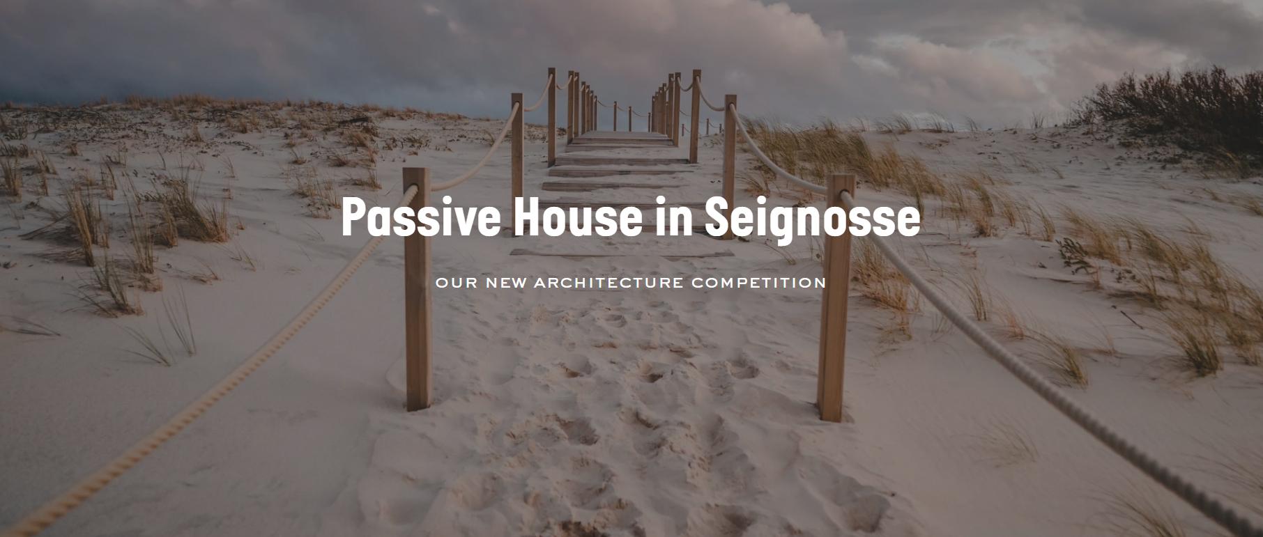 塞格诺斯(Seignosse)被动式节能住宅设计竞赛