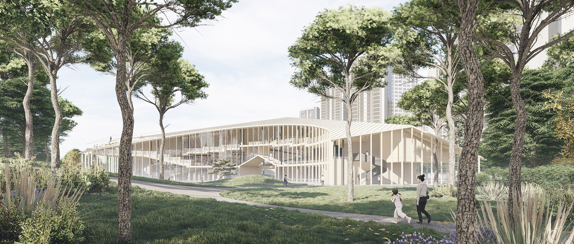 松岛书屋:松岛国际城图书馆国际设计竞赛荣誉提名