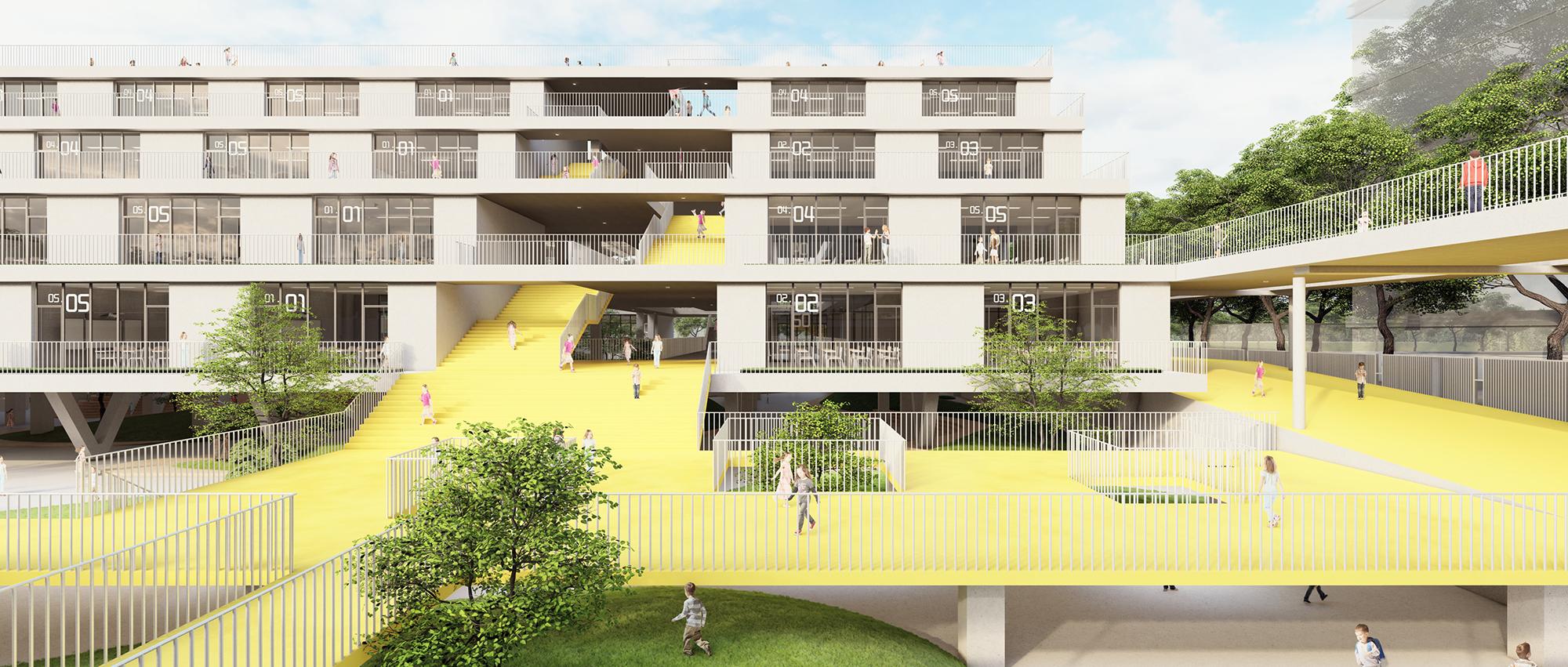 橡皮小学:威海市三十里堡小学设计提案