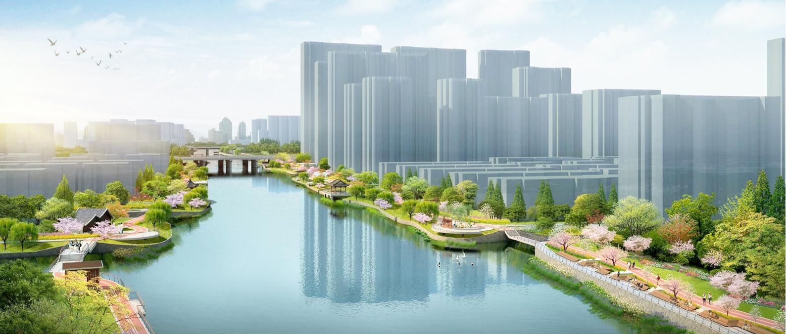 嘉善县伍子塘吴越文化绿廊概念设计方案征集