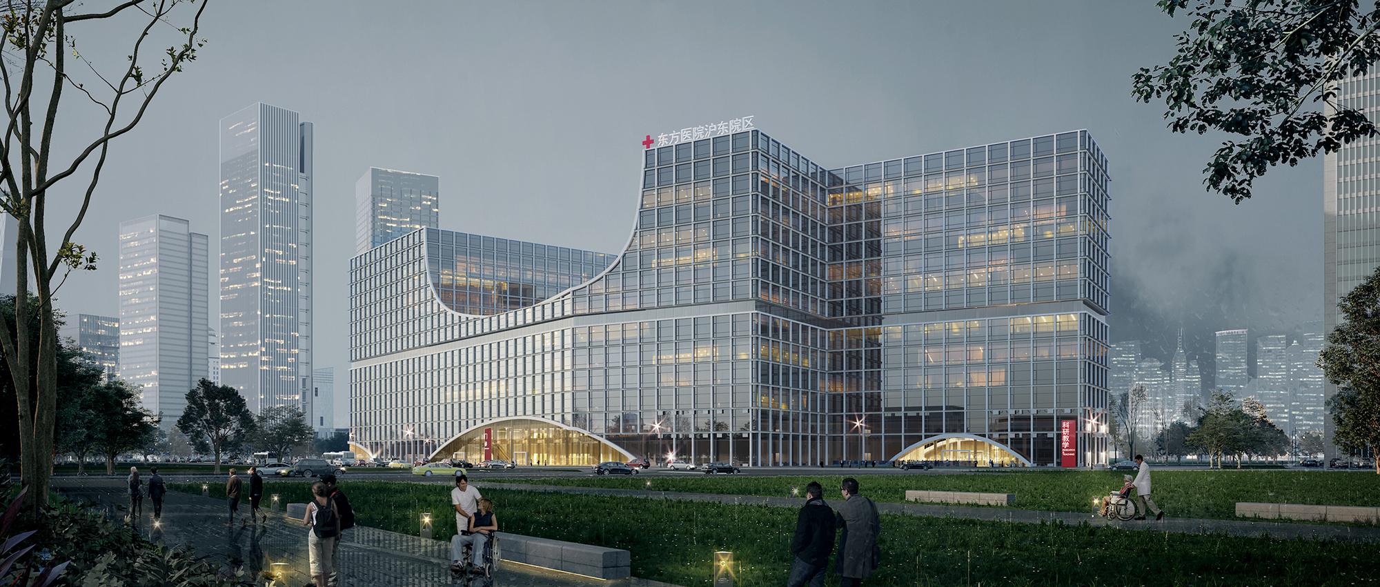 城市与河岸之间的健康客厅:沪东区域医疗中心
